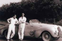 Liège-Rome-Liège Rally 1939  -  Ford Mercury Sport  -  Pilotes: M.Gatsonides/Beels  -  15x10cms PHOTO - Rallyes