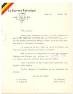 Toegangskaart Le Souvenir Patriotique Gand - Pelerinage - Gent Bedevaart 1953 - Tickets D'entrée