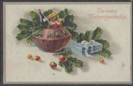 AK     Weihnachten         2 Fotos      Minimale Gebrauchsspuren - Postales