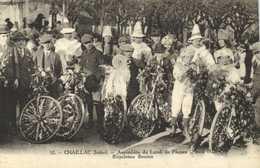 CHAILLAC (Indre) Assemblée Du Lundi De Paques (2 Avril 1923) Bicyclettes Fleuries  RV - Francia