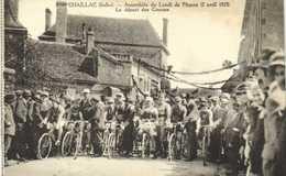 CHAILLAC (Indre) Assemblée Du Lundi De Paques (2 Avril 1923) Le Départ Des Courses ( Cyclisme) RV - France