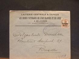 83/979    LETTRE SELOIGNIES  CENSURE CHARLEROI - WW I