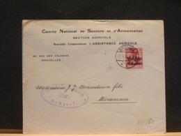 83/980    LETTRE BRUSSEL  1916  CENSURE BRUSSEL - WW I