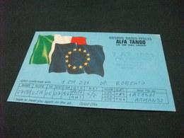 QLS GRUPPO RARIO ITALIA ALFA TANGO ITALIA  BANDIERE EUROPA ITALY - Radio Amatoriale