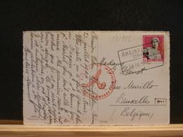 83/982  CP   SUISSE 1944  POUR LA BELG.  CENSURE - Lettres & Documents