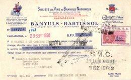 BANYULS-BARTISSOL     Vins Naturels   Caves Et Chais à Banyuls Sur Mer 66 - Letras De Cambio