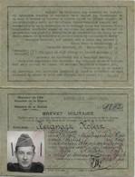 BREVET MILITAIRE , Titulaire : Keignart Robert  , 2e Escadron Du Train  ... Le 8 Octobre 1946 à Lille - Documenti