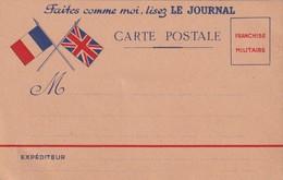 FRANCE  CARTE DE FRANCHISE MILITAIRE - Marcofilia (sobres)