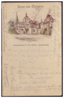 Alt.- Dt (005531) Altdeutschland Württemberg Gruss Aus Stuttgart Gewerbeausstellung Gelaufen Am 24.9.1896 - Entiers Postaux