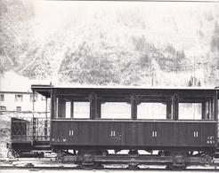 ¤¤  -  Cliché D'un Wagon Du P.L.M. En Gare Sur La Ligne SAINT-GERVAIS  -  VALLORCINE    -  Voir Description   -   ¤¤ - Matériel