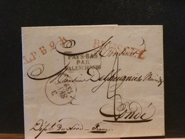 83/993 LETTRE DE BRUSSEL POUR CONDE 1928 + PAYS-BAS PAR VALENCIENNES  RAYON LPB2R - 1815-1830 (Période Hollandaise)
