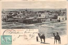(RARE) CPA  Egypte Helwan Vue Générale  (animée)(précurseur)  CC 465 - Egypt
