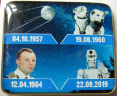 642-1 Space Russian Pin - Mistake! Gagarin, 1st Sputnik, Belka & Strelka, Skybot F-850 - Space