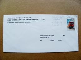 Cover Belgium Atm Machine Cancel 1971 Railway Post Postal Train - Belgium