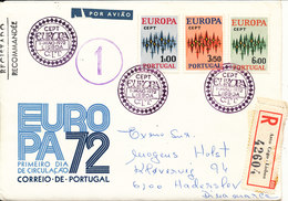 Portugal Registered FDC 1-5-1972 Complete Set Of 3 With Cachet EUROPA CEPT - Europa-CEPT