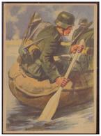 Dt-Reich (005559) Propagandakarte Mit Dem Schlauchboot Geht Es über Den Fluß, Orginal Von F.Ahlers, Ungebraucht - Deutschland