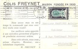 ALGÉRIE COLIS FREYNET MAISON FONDÉE EN 1900 OMec RBV ORAN R.P. Du 19-12-1960 - Algérie (1924-1962)