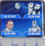 642-3 Space Russian Pin. Gagarin, 1st Sputnik, Belka & Strelka, Skybot F-850 - Space