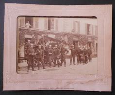 Photographie En Noir Et Blanc - Cliché L. Mulot Sis Boulevard Beaumarchais à Paris - Régiment Des Sapeurs Pompiers - Guerra, Militari