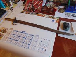 Rare Sabre Baionnette Chassepot Fabrication D'Urgence - Knives/Swords