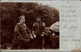 ! Alte Fotokarte Militär, Mecklenburg, Biwak Bei Lanken, Kreis Lübz, 1903, Poststempel Kladrum, Photo Militaria, Manöver - Deutschland