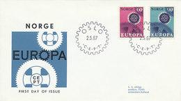 DC-2145 FDC EUROPA CEPT 1967 - NORWAY - Europa-CEPT