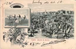 (RARE) CPA  Egypte Caire Marché De Boulac  (animée)(précurseur)  CC 902 - Cairo