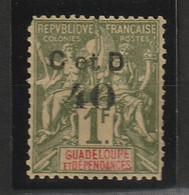 GUADELOUPE N° 48d* C Au Lieu De G - Voir Le Scan Pour Les Dents - Guadeloupe (1884-1947)