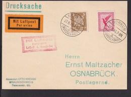 A5 /   Luftpost Luftpostkarte /  Borkum - Osnabrück 1926 - Luftpost