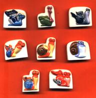 Série Complète De 8 Feves Turbo 2013 Escargots - Cartoons