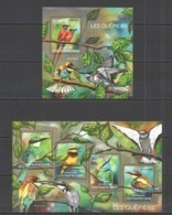 CA475 2014 CENTRAL AFRICA CENTRAFRICAINE FAUNA BIRDS WASPIERS LES GUEPIERS KB+BL MNH - Oiseaux