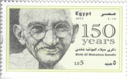 Stamps EGYPT 2019 MAHATMA GANDHI BIRTH 150 ANNIVERSARY MNH */* - Egypte
