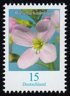 3424 Blume Wiesenschaumkraut 15 Cent, Nassklebend, ** - BRD