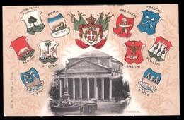 ROMA - INIZI 900 - STEMMI DI VELLETRI ORTE FRASCATI ALBANO TIVOLI FROSINONE CIVITAVECCHIA VITERBO ANAGNI - Velletri