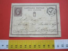PC.3 ITALIA REGNO CARTOLINA POSTALE - 1874 10 CENT BRUNO CON DIFETTI COME DA FOTO X PETTINENGO BIELLA - 1861-78 Victor Emmanuel II.