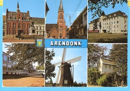Groeten Uit Arendonk (Turnhout)-6 Zichten-Multivues-Gemeentehuis-Kerk-Molen-Kapel-Sociaal Huis... - Arendonk
