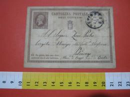 PC.3 ITALIA REGNO CARTOLINA POSTALE - 1874 10 CENT BRUNO CON DIFETTI COME DA FOTO DA TREVISO X PETTINENGO BIELLA - 1861-78 Victor Emmanuel II.