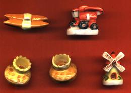 Lot De 5/10 Feves De La Série Bouton Mitron ( 2 ) Et Simple ( 3 )1997 - History