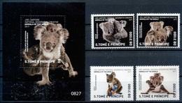2017 Sao Tome & Principi, Fauna, National Geographic, Koala, S/sheet + 4 Stamps, MNH - Stamps