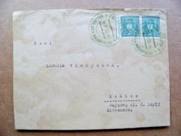 Cover Czechoslovakia 1935 Prostejov - Briefe U. Dokumente