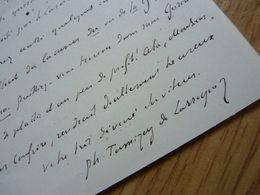 Philippe TAMIZEY DE LARROQUE (1828-1898) Erudit. MAJORAL FELIBRIGE. Gontaud De Nogaret. AUTOGRAPHE - Autographes
