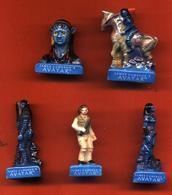 Lot De 5/10 Feves De La Série Avatar Bleu 2011 - Cartoons
