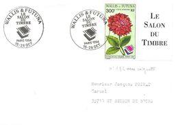 Wallis-et-Futuna Paris 15-24 Oct. 1994 Cachet Manuel Illustré Sur Timbre N° 182 - Covers & Documents