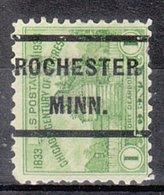 USA Precancel Vorausentwertung Preo, Locals Minnesota, Rochester 232 - Preobliterati