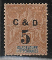GUADELOUPE - N° 45*g - C Au Lieu De G - Guadeloupe (1884-1947)