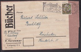 A20  /  Deutsches Reich  523 EF Perfin Lochung  / Büchersendung Leipzig - Cartas