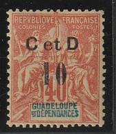 GUADELOUPE - N° 46*h - C Au Lieu De G - Beau Centrage - Guadeloupe (1884-1947)
