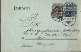 ! Alte Ganzsache, Deutsches Reich, 1906 Von Worms An Den Stenographenverein Stolze Schrey, - Deutschland