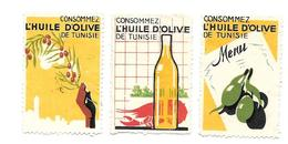 KB979 - VIGNETTES HUILE D'OLIVE DE TUNISIE - Tunisie (1888-1955)