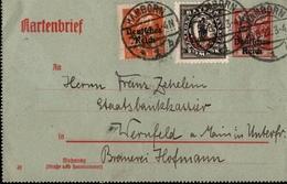 ! Alte Ganzsache, Kartenbrief, Deutsches Reich, 1922 Von Hamborn N. Wernfeld - Germany